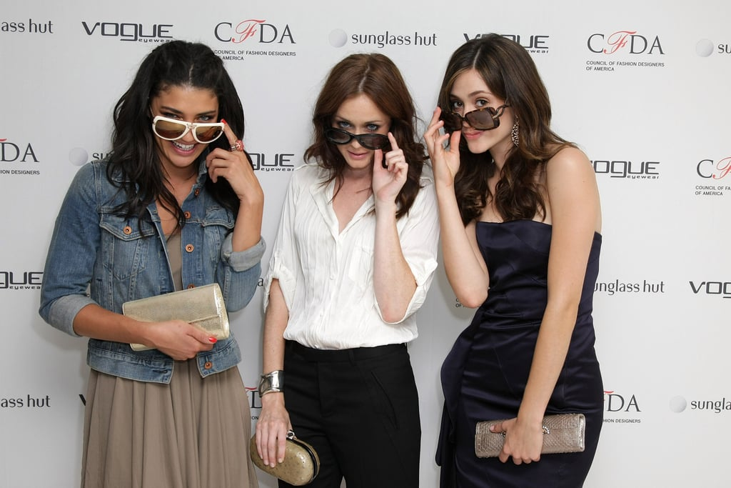 Pictures if Jessica Szohr, Alexis Bledel and Emmy Rossum Showing Off Sunglasses in New York City