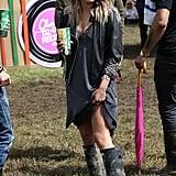 Caroline Flack at Glastonbury 2014