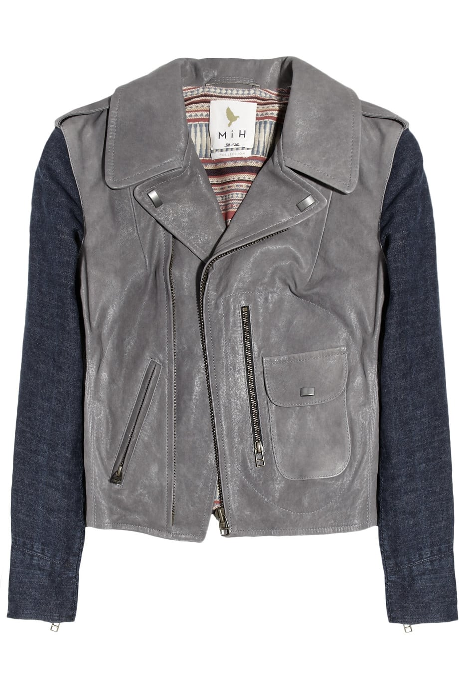 MiH Jeans's Denim-Sleeved Leather Biker Jacket ($925) is the perfect blend of laid-back denim jacket and badass biker cool. The gray-toned leather is a nice alternative to basic black, and it would look great over an LBD for holiday parties. — Britt Stephens, assistant editor