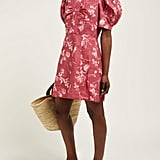 SEA Monet Floral Print Puff-Sleeve Minidress