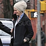 Anne Hathaway out in New York.