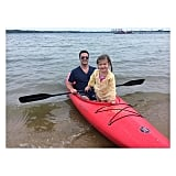 Harper Smith went kayaking with her dad, Brady, while vacationing in the Hamptons. Source: Instagram user tathiessen