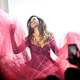 Laverne Cox's Zac Posen Dress on 11 Honoré Runway Feb. 2019