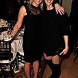Chelsea Handler met up with Sarah Silverman inside the bash.