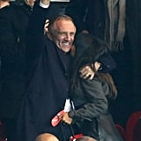 Salma Hayek and Francois-Henri Pinault celebrated a score.