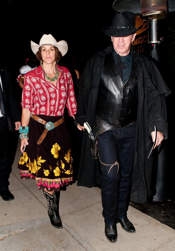 In 2014, Tim Allen and his wife stepped out in LA and may have hit up a Western store for these coordinated ensembles.