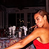 Beyoncé got serious for a fun photo.