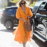 Style a Bright Dress With an Adorable Basket Bag