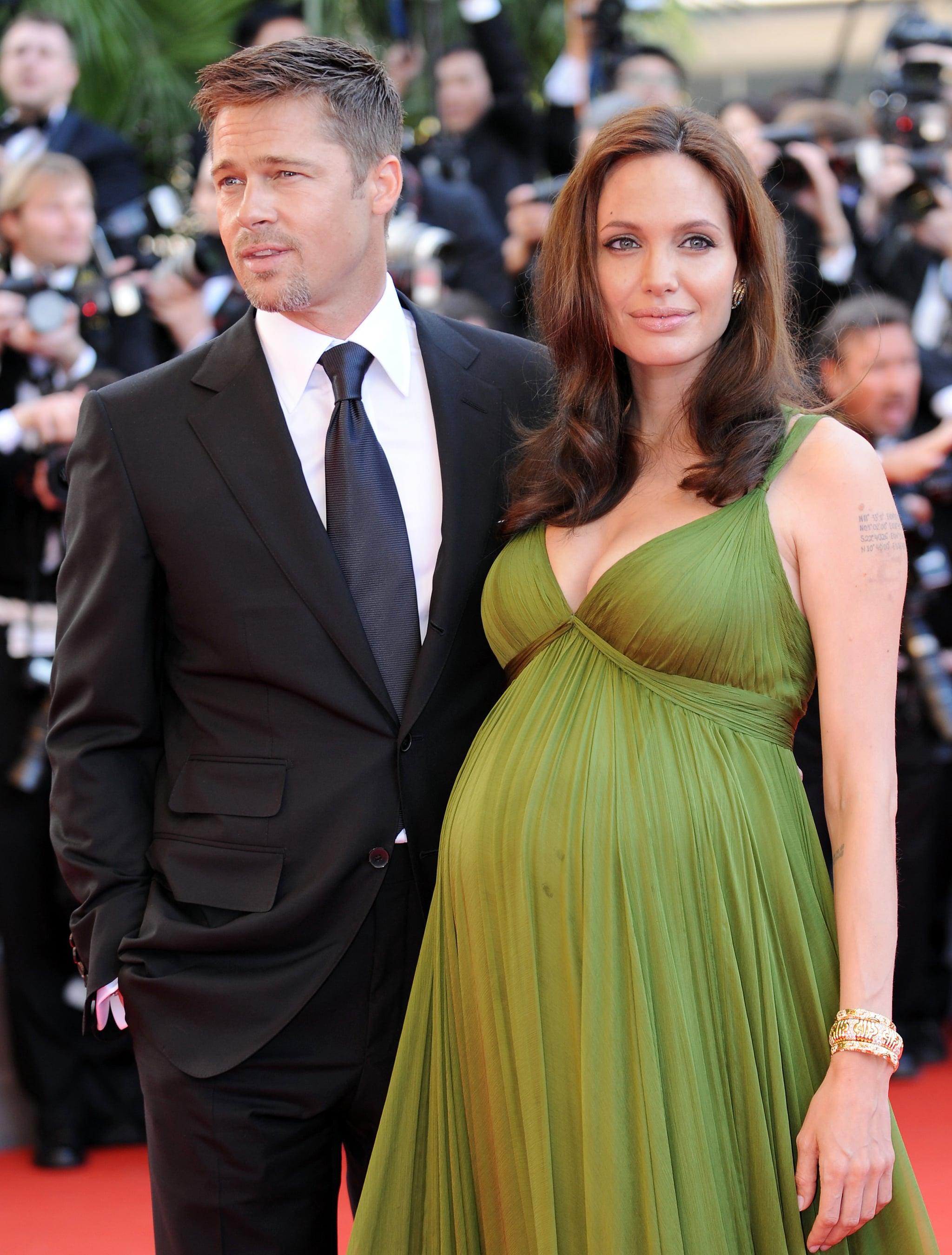 Brad Pitt and Angelina Jolie in 2008