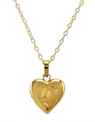 Lord & Taylor 14K Gold Small Heart Locket Necklace ($350)