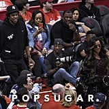 Beyoncé and JAY-Z at Houston Rockets Game Pictures May 2019