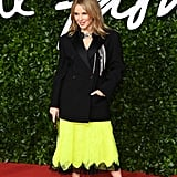 Kylie Minogue at the British Fashion Awards 2019