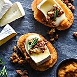 Pumpkin and Brie Crostini With Candied Nuts