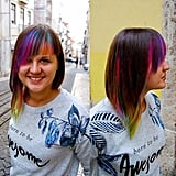Rainbow Bangs Hair Color Trend