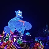 The electric light parade is a revamped throwback.