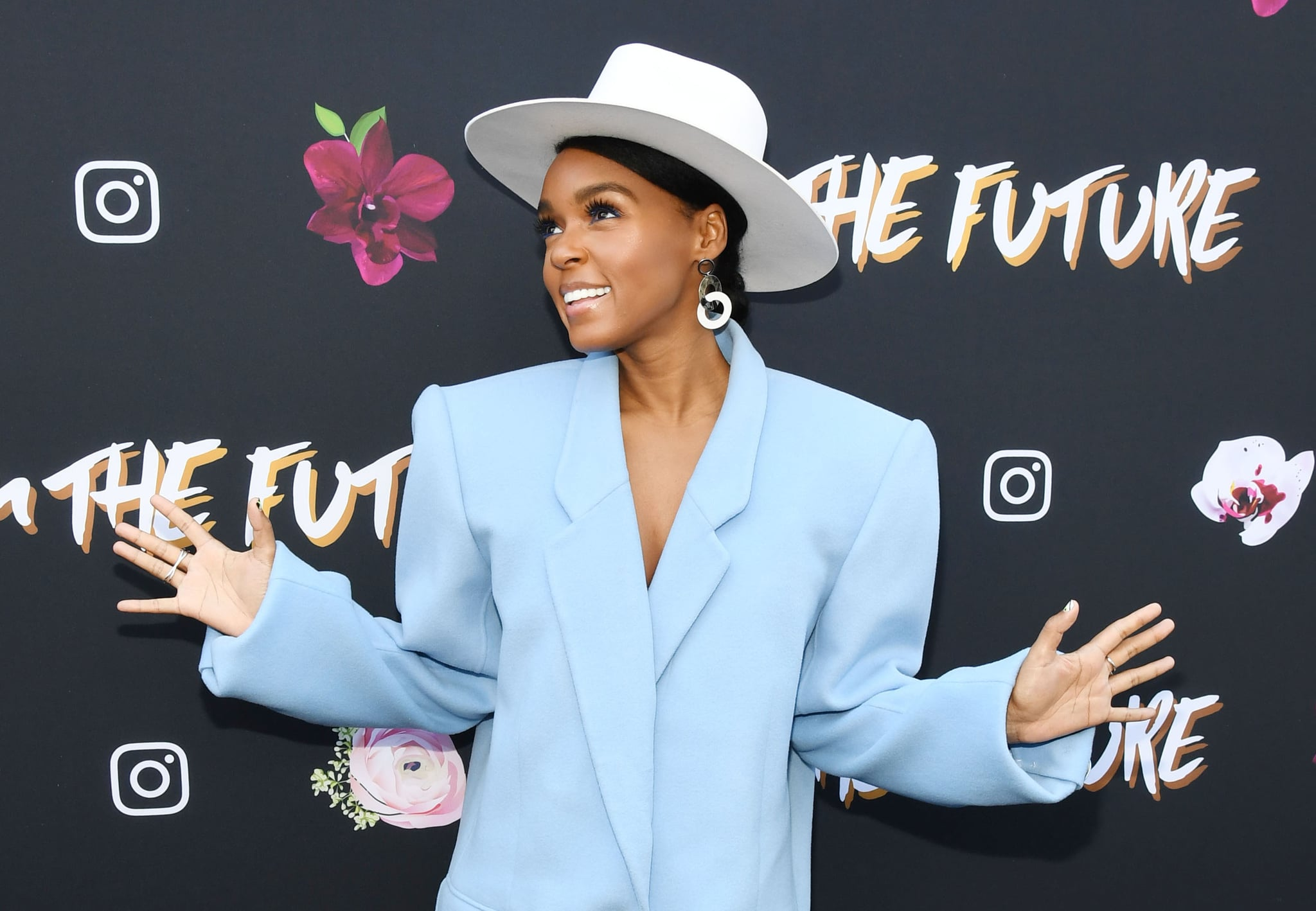 LOS ANGELES, CALIFORNIA - FEBRUARY 08: Janelle Monae attends Janelle Monae x Instagram Fem The Future Brunch on February 08, 2019 in Los Angeles, California. (Photo by Amy Sussman/Getty Images)