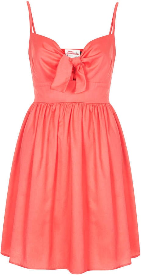 Annie Greenabelle coral tie-front dress (£44)