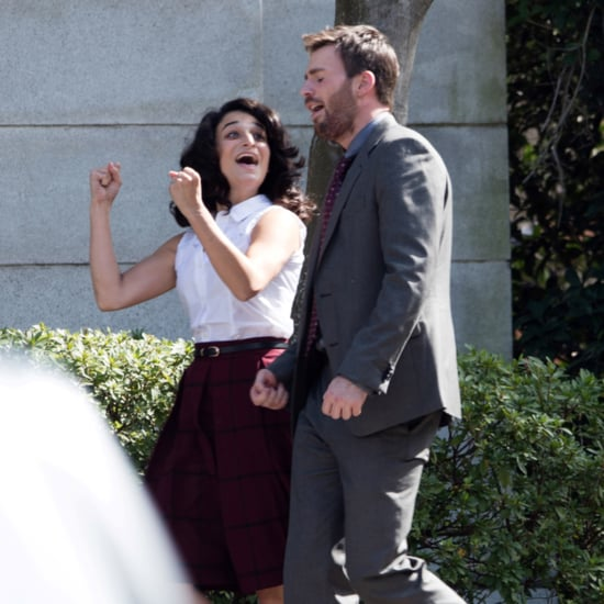 Chris Evans and Jenny Slate Pictures October 2015