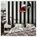 Blooming Wall: Modern Fashion Black & White Stripes Textured Wallpaper