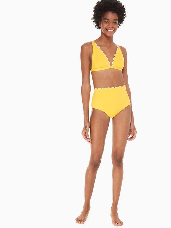 Kate Spade New York Fort Tilden Contrast Scalloped Bikini