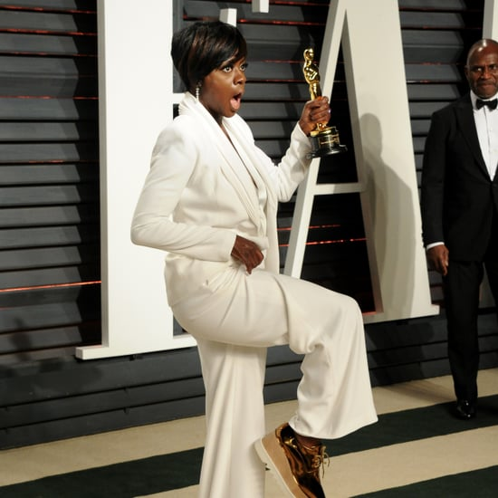Viola Davis Wearing Sneakers at the Oscars 2017