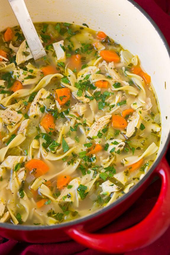 Chicken Noodle Soup Classic Soup Recipes Popsugar Food Photo 19