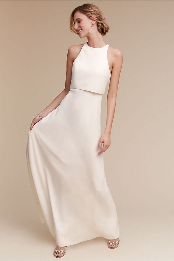 This Iva Crepe Maxi ($298) is beautiful from the front, but wait until you see the back.