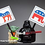 No surprise that Darth Vader and Yoda would be on opposite party lines.