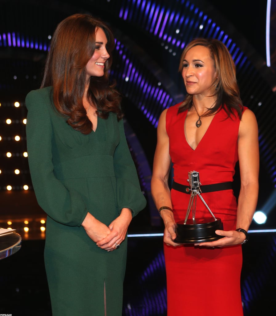Kate Middleton presented awards on stage in London.