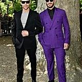 Ricky Martin and Jwan Yosef at Paris Fashion Week