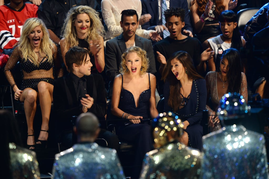 Taylor Swift looked surprised when Daft Punk announced her as the winner.