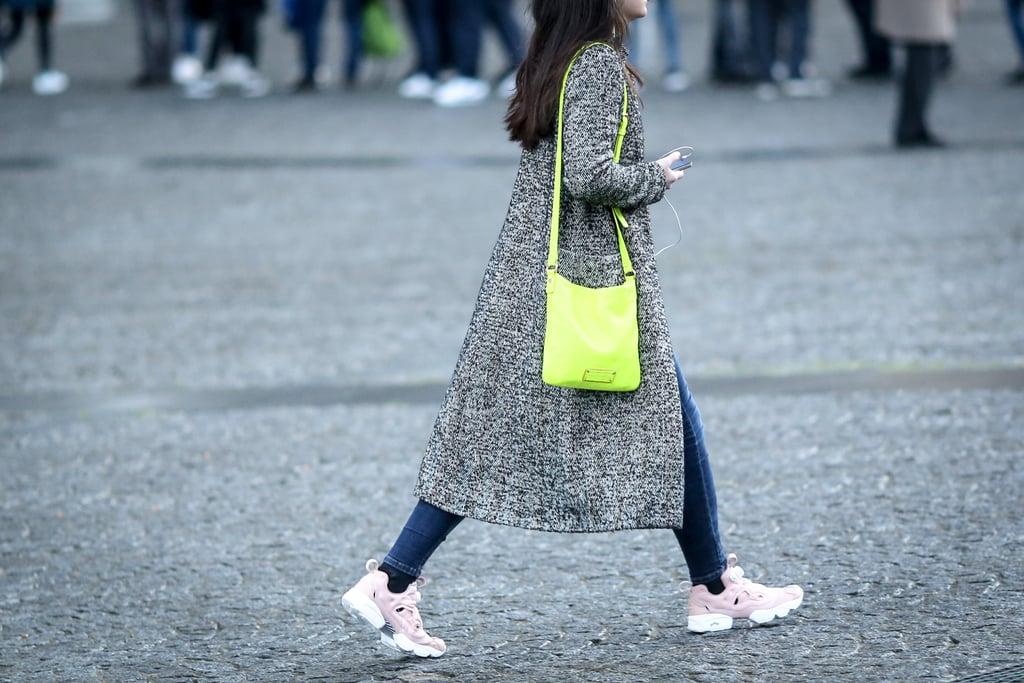 Skinny Jeans + Millenial Pink Sneakers