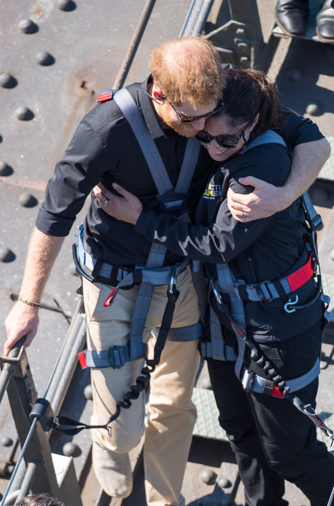 Prince Harry Comforts a Military Widow in Australia 2018