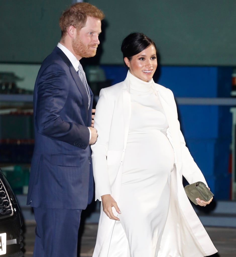 Meghan Markle White Calvin Klein Dress and Coat 2019