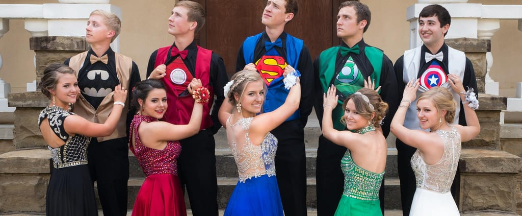 Superhero Fans: This Incredible Prom Picture Might Just Be Your Kryptonite