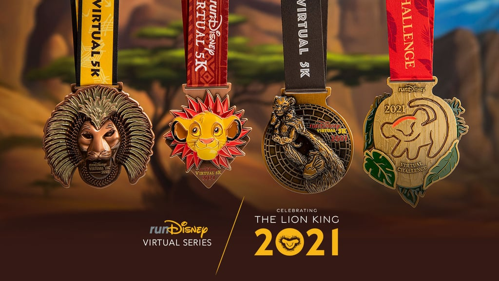 """Ready to run the Pride Lands? runDisney just announced a brand-new installment of its Virtual Series with three 5Ks themed after a true classic: The Lion King. As with previous runDisney virtual events, this summer series is great because you don't have to trek down to Disney to earn yourself a shiny medal (more on that part ahead). All you have to do is sign up for one of the 5Ks on rundisney.com (or sign up for all three and do the Virtual Challenge), then complete your run wherever you want: a treadmill, sidewalks, trails, or roads. The window to complete each race lasts from June 1 to August 31, so time to get training! Now, let's talk about the goods. Each race name links up to a different version of The Lion King — The Timeless Classic, The Broadway Phenomenon, and The Reimagined Classic — to celebrate the three ways this story has been told since the 1994 release of the first animated version. Each medal matches its edition, and you can earn a fourth medal by completing all three races. Enticed? Get a glimpse of the medals ahead, and start practicing your victory roar.      Related:                                                                                                           If You're a Runner, These Relatable TikToks Will Make You Nod Your Head and Say, """"I Do That!"""""""
