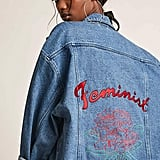 Forever 21 The Style Club Oversized Feminist Denim Jacket