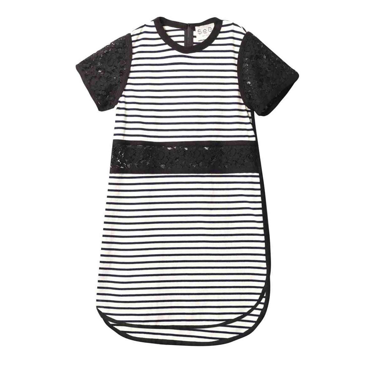 Sea Breton Striped Lace Cutout Dress