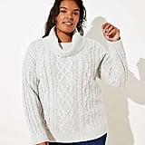 Loft Turtleneck Cable Sweater
