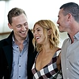 With Tom Hiddleston and Luke Evans
