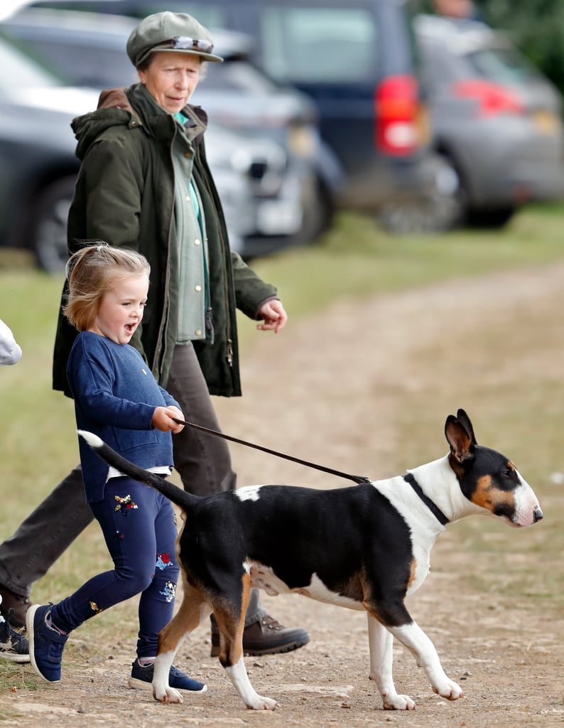 Princess Anne and Granddaughter Mia Tindall in Stroud, England, in 2018
