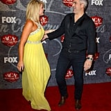Lauren Alaina ran into Taylor Hicks on the red carpet.