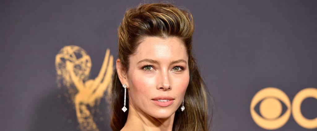 Jessica Biel Brought the Drama With Her Pompadour Hairstyle at the 2017 Emmys