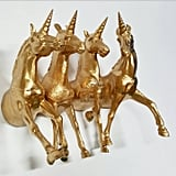Gold Unicorn Wall Hooks ($34)