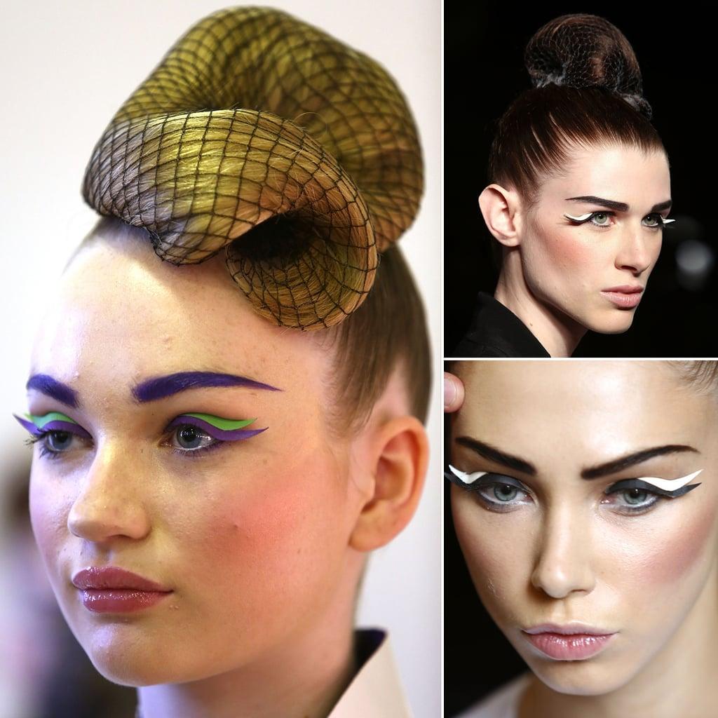 Pearce Fionda's Paper Liner Flicks at London Fashion Week
