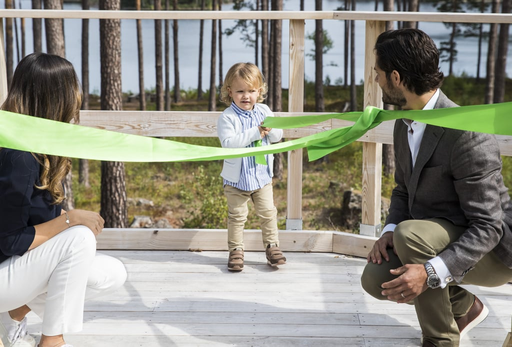At only 2 years old, Prince Alexander just hit a very important milestone: his first royal engagement. On Thursday, the young Swedish royal paid a special visit to the Nynas Nature Reserve in Sweden with his parents, Princess Sofia and Prince Carl Philip. Alexander officially opened the Prince Alexander Viewpoint and was as adorable as ever as he pulled a ribbon during the inauguration. And things only got cuter from there! Alexander seemed to have a blast as he rode in a horse-drawn carriage and played with the animals. At one point, he even hopped on an oversize fake duck, with help from his mom, of course. Sadly, Alexander's younger brother, Prince Gabriel, wasn't there to witness the monumental moment, but we're sure he's very proud.       Related:                                                                                                           Prince Carl Philip Might Just Be the Sexiest Prince We've Ever Laid Eyes On