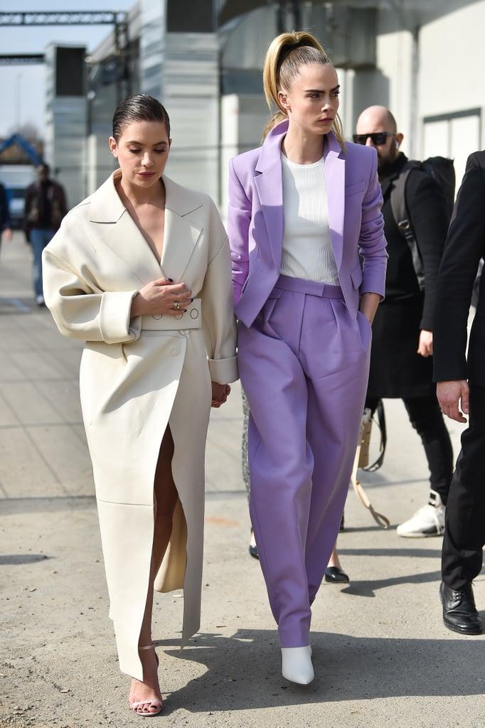 Ashley Benson and Cara Delevingne at Milan Fashion Week