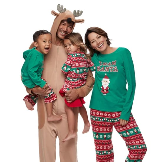 matching family pajamas at kohls popsugar family