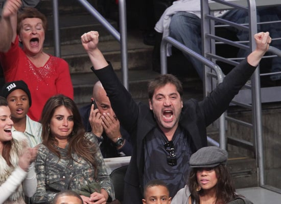 Pictures of Penelope Cruz, Javier Bardem, Cameron Diaz, Kanye West and More at Lakers Game on Christmas