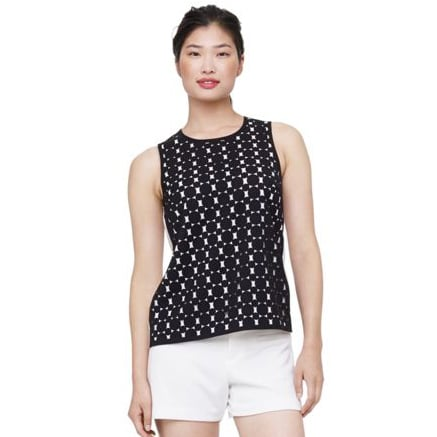 The trouble with dressing for the Summer is finding pieces light enough to wear on the hottest days without losing any personality. That's where this Club Monaco top ($170) comes in. Its black-and-white graphic pattern makes sure things stay interesting. And what's better is that the black design is overlaid onto the white — a little detail that makes your outfit feel that much more special.  — RK